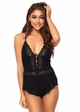 Lace Front Eyelet Romper inset 1