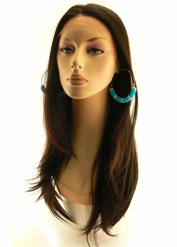Lace Front Wig Dahlia with Long Straight Hair