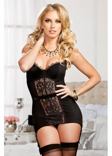 SALE Lace Garter Dress with G-string
