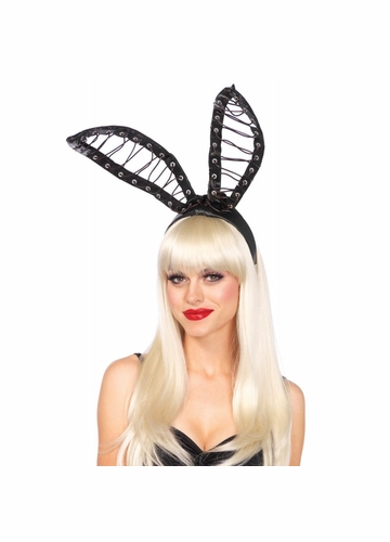 Lace-Up Bunny Ears Headband