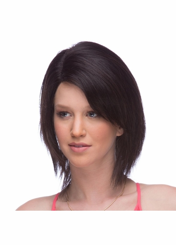 Layered 100% Human Hair Lace Front Wig Priscilla