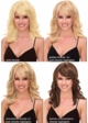 Layered Human Hair Blend Wig with Side Swept Bangs inset 1
