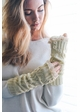 Leaf Knit Armwarmers with Crochet Lace inset 1
