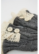 Leaf Knit Armwarmers with Crochet Lace inset 2