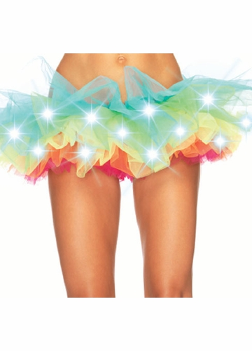 LED Light-Up Neon Rainbow Tutu