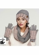 Light Grey Pink Two-Piece Houndstooth CC Gloves inset 1