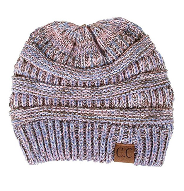Lilac Multi Knit Beanie Hats from CC Brand a69ff0153ec