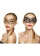 Lillian Masquerade Mask with Crystals inset 1