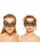Lillian Masquerade Mask with Crystals inset 3