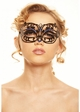 Lillian Masquerade Mask with Crystals inset 4