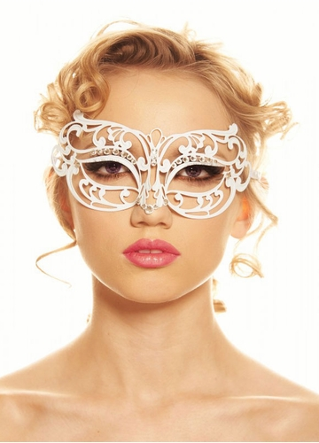 Lillian Masquerade Mask with Crystals