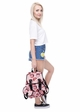 Lips Print Canvas Backpack from Zohra inset 3