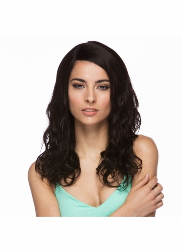 Long and Wavy 100% Human Hair Lace Front Wig Becca