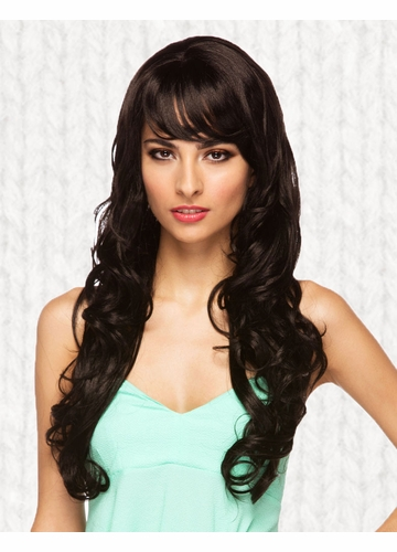 Long Black Melrose Wig