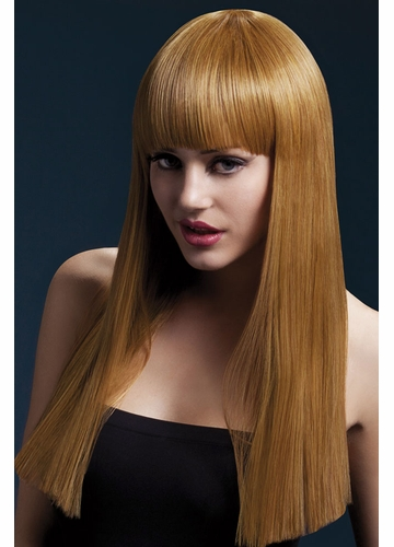 Long Blunt Cut Wig Alexia with Fringe in Auburn