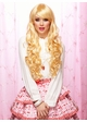 Long Bouncy Curl Anime Wig in Apricot Blonde Plus Two Hair Pieces inset 1