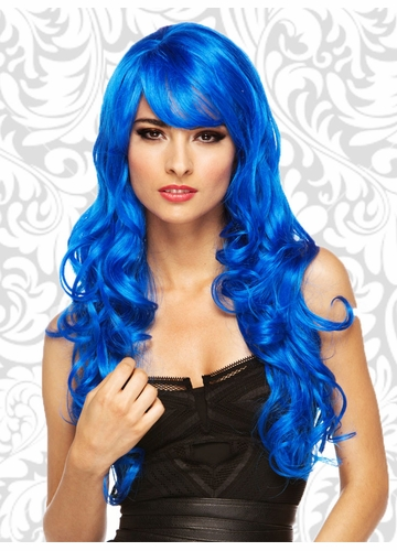 Long Dark Blue Melrose Wig