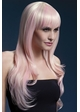 Long Feathered Wig Sienna with Fringe in Blonde Candy inset 1