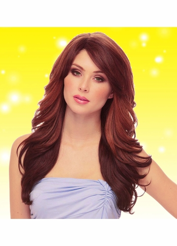 Long Loose Wave Wig Phoenix in Chestnut Blend