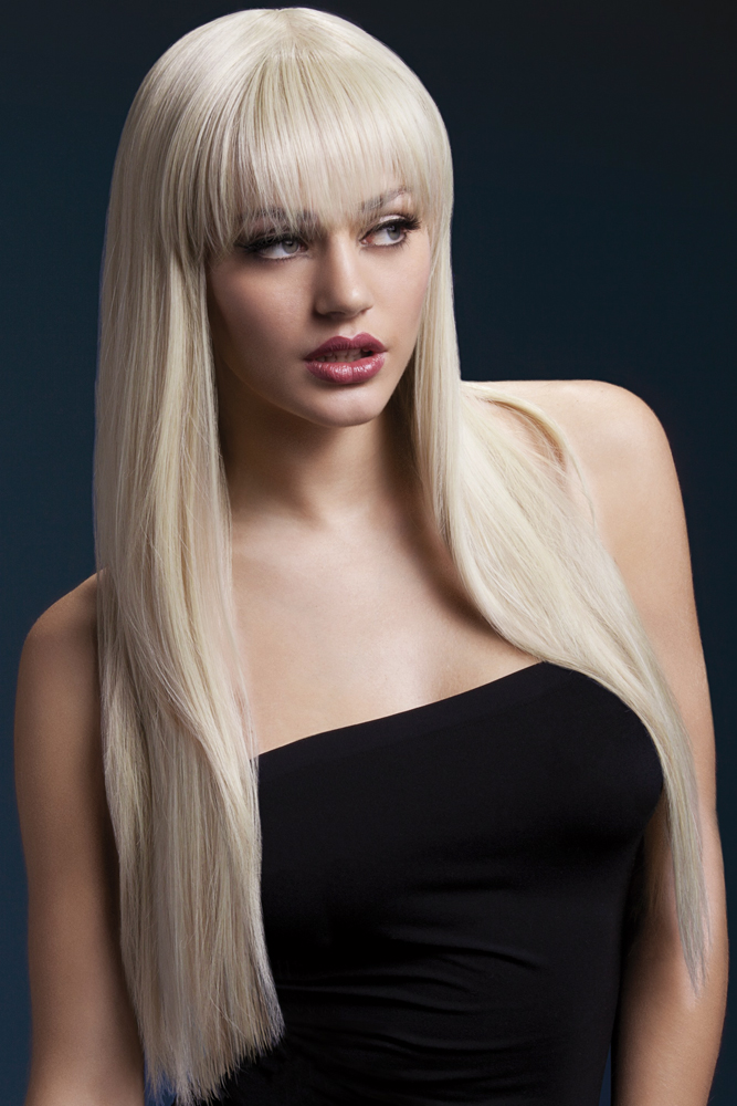 Long Straight Wig Jessica with Fringe in Blonde ff59a23ea8cc