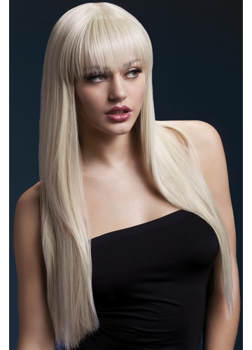 Long Straight Wig Jessica with Fringe in Blonde