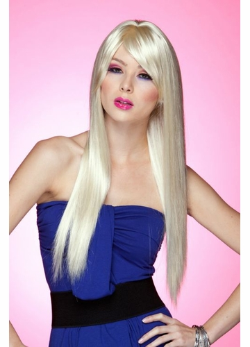 Long Straight Wig Divine with Bangs in California Blonde