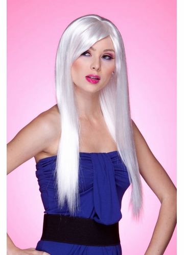 Long Straight Wig with Bangs in Snow White Divine