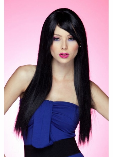 Long Straight WigDivine with Bangs in Onyx Black