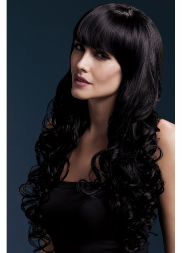 Long Tousled Curl Wig Isabelle in Black