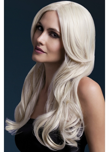 Long Wave Wig Khloe with Middle Part in Blonde