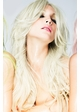 Long Wave Wig Khloe with Middle Part in Blonde inset 1