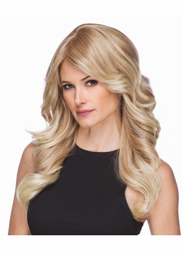 Long Wavy Wig Phoenix in Strawberry Blonde with Pale Blonde Tips