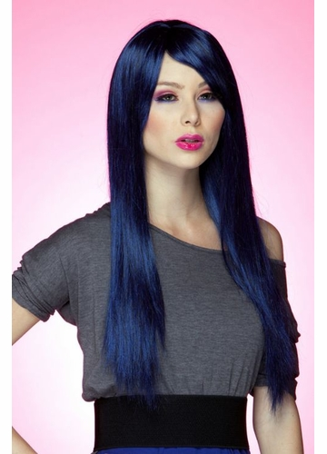 Long Wig Divine with Bangs in Midnight Blue