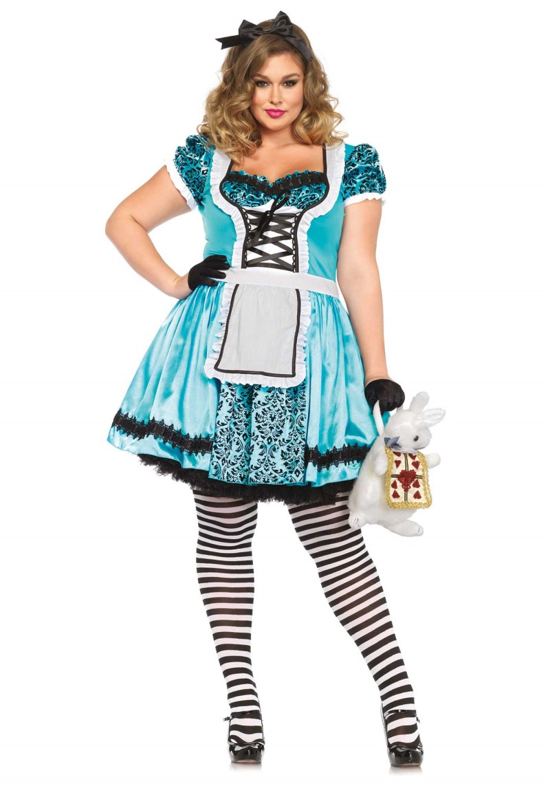 plus size looking glass alice halloween costume