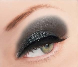 Luxe Black and Charcoal Glitter Powder for Eyeliner and Eye Makeup