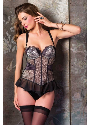 Luxe Lace and Chiffon Bustier