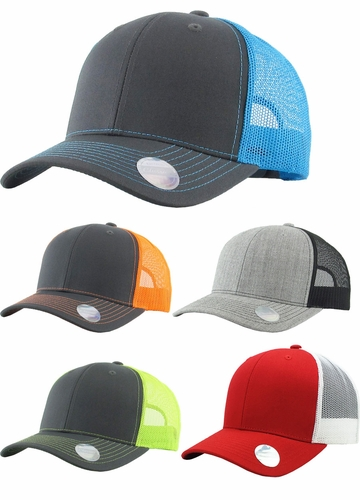 Mesh Trucker Hat in Contrast Colors