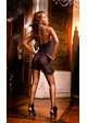 Mesh Tube Mini Dress with Lace Trim inset 1