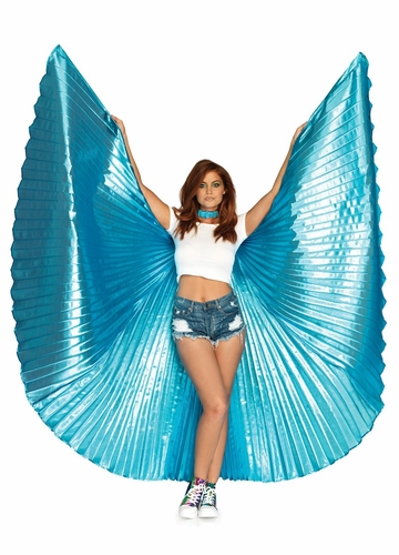 Metallic Pleated Wings