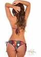Metallic Rainbow Pucker Back Bikini  inset 1