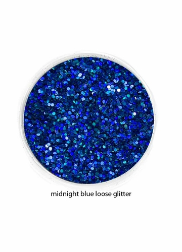 Midnight Blue Color of Luxe Glitter Powder for Eyeliner and Eye Makeup