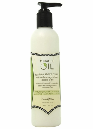 Miracle Oil Tea Tree Shave Cream in 8oz/227g