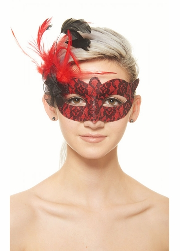 Miss Petite Lace Overlay Masquerade Mask