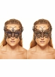 Monarch Butterfly Masquerade Mask With Gems inset 3