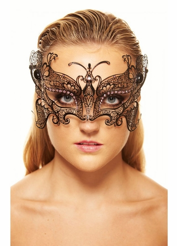 SALE Monarch Butterfly Masquerade Mask With Gems