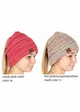 Multi Color CC BeanieTails Open Ponytail Hat inset 2