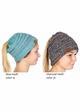 Multi Color CC BeanieTails Open Ponytail Hat inset 3