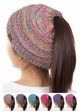 Multi Color CC BeanieTails Open Ponytail Hat inset 4