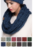 Multi Color Knit CC Scarf