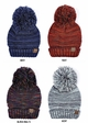 Multi Color Oversized Slouchy Beanie with Pom Pom inset 1